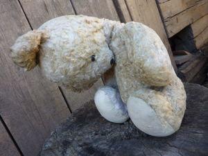 Реставрация винтажного белого медведя. Ярмарка Мастеров - ручная работа, handmade.
