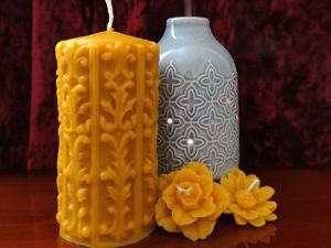Столбовая свеча — незаменимый элемент любого декора!. Ярмарка Мастеров - ручная работа, handmade.