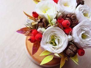 Создаем цветочную композицию с шишками и ягодами в сахаре. Ярмарка Мастеров - ручная работа, handmade.