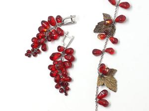 Коллекция  « Красный гранат». Ярмарка Мастеров - ручная работа, handmade.
