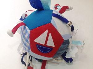 Шьем развивающий мячик в морском стиле. Ярмарка Мастеров - ручная работа, handmade.