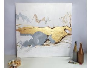 Картина  «Золотые горы». Ярмарка Мастеров - ручная работа, handmade.