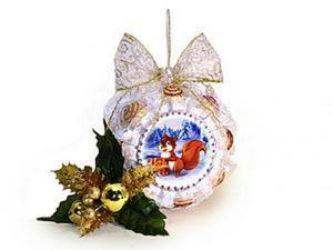 """Сладкий подарок """"Новогодний шар"""" своими руками. Ярмарка Мастеров - ручная работа, handmade."""