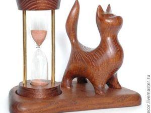 Акция Сегодня (22.06.2019) Скидка — 30%, Песочные часы  «Cat-3». Ярмарка Мастеров - ручная работа, handmade.