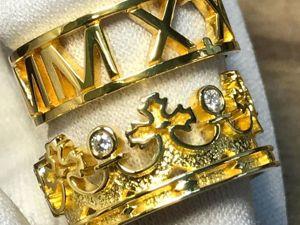 Золотые кольца без фильтров!. Ярмарка Мастеров - ручная работа, handmade.