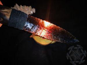 Обсидиановый нож — клинок из жерла вулкана. Ярмарка Мастеров - ручная работа, handmade.