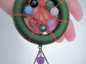 Плетем мини-ловец снов «Начало весны» своими руками. Ярмарка Мастеров - ручная работа, handmade.