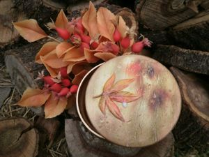 Декорируем шкатулку «Осенний дождь». Ярмарка Мастеров - ручная работа, handmade.