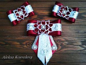 Видео мастер-класс: школьный комплект галстук и резиночки «Бордо». Ярмарка Мастеров - ручная работа, handmade.