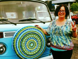 Автомода: вязаные чехлы для запасного колеса. Ярмарка Мастеров - ручная работа, handmade.
