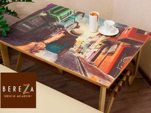 Cтол с Вашими любимыми фотографиями на столешнице. Ярмарка Мастеров - ручная работа, handmade.