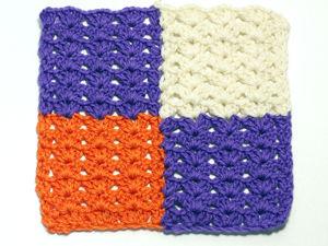 Узор крючком для пледа из квадратов без отрыва нити. Ярмарка Мастеров - ручная работа, handmade.