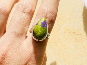Серебряное кольцо со стихитом со скидкой. Ярмарка Мастеров - ручная работа, handmade.