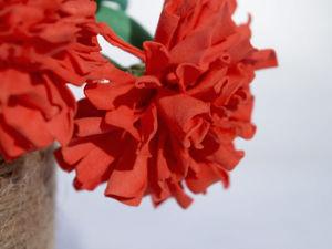 Создаем гвоздики из фоамирана. Ярмарка Мастеров - ручная работа, handmade.