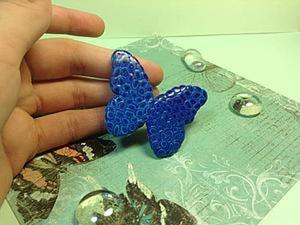 Бабочка в шприцевой технике из полимерной глины. Ярмарка Мастеров - ручная работа, handmade.