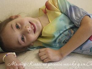 Мастер-класс про росписи шелка батик для Сонечки. Ярмарка Мастеров - ручная работа, handmade.