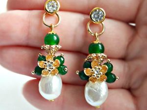 Creating Earrings with Baroque Pearls. Livemaster - handmade