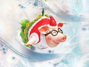 Создаем елочную игрушку «Свинка-летчица». Символ 2019 года. Ярмарка Мастеров - ручная работа, handmade.