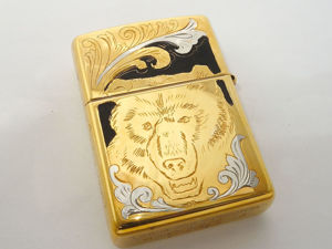 Зажигалка Zippo с гравировкой  «Медведь» . Златоуст z8503. Ярмарка Мастеров - ручная работа, handmade.