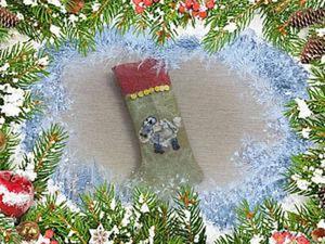 Видео мастер-класс: делаем рождественский носочек. Ярмарка Мастеров - ручная работа, handmade.