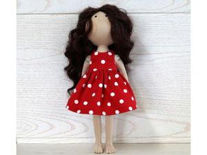 Шьём платье для куклы. Ярмарка Мастеров - ручная работа, handmade.