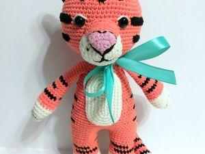 Вяжем тигрёнка. Ярмарка Мастеров - ручная работа, handmade.