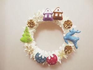 Создаем рождественский венок «Феерия». Ярмарка Мастеров - ручная работа, handmade.