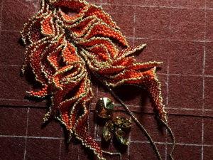 Процесс работы: колье Перо Жар-птицы. Ярмарка Мастеров - ручная работа, handmade.