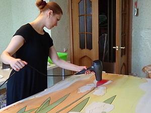 Батик под мокрое валяние.  Краски, Ткани, Резерв. Ярмарка Мастеров - ручная работа, handmade.