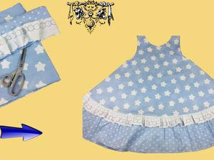 Шьём домашнее платье без выкройки за 10 минут. Ярмарка Мастеров - ручная работа, handmade.