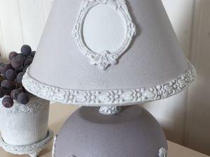 Декор старой лампы полимерной  глиной. Ярмарка Мастеров - ручная работа, handmade.