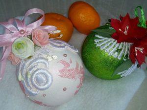 Декорируем ёлочный шар. Ярмарка Мастеров - ручная работа, handmade.
