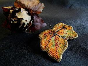 10 осенних мастер-классов по вышивке бисером: создаем необычные украшения своими руками. Ярмарка Мастеров - ручная работа, handmade.