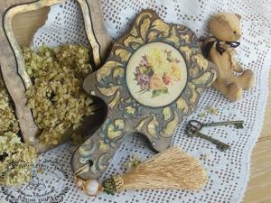 Декорируем зеркало «Винтажный букетик». Ярмарка Мастеров - ручная работа, handmade.