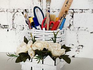 Плетем органайзер своими руками. Ярмарка Мастеров - ручная работа, handmade.