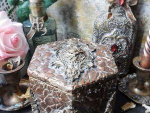 Шкатулка  «Роза в металле». Ярмарка Мастеров - ручная работа, handmade.