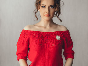 Вяжем футболку Red. Описание вязания и схема узора. Ярмарка Мастеров - ручная работа, handmade.