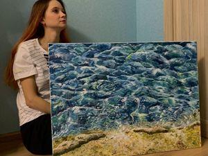 Я и моя работа  «Морская вода». Ярмарка Мастеров - ручная работа, handmade.