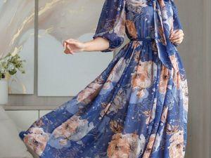 Аукцион на Летнее струящееся платье! Старт 2500 р.!. Ярмарка Мастеров - ручная работа, handmade.