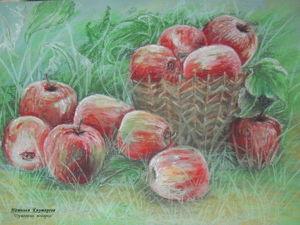 """Рисуем пастелью картину """"Яблоки"""". Ярмарка Мастеров - ручная работа, handmade."""
