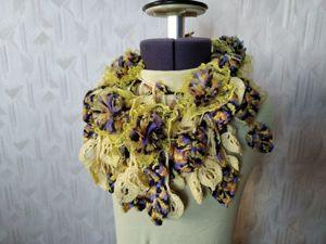 Распродажа авторских оригинальных шарфиков от 1300 руб. Ярмарка Мастеров - ручная работа, handmade.