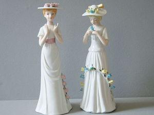Статуэтки Две Дамы фарфор, ручная работа. Ярмарка Мастеров - ручная работа, handmade.