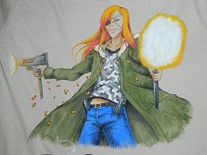 Аниме - картинка на одежде.. Ярмарка Мастеров - ручная работа, handmade.