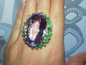 Видео! Крупный перстень  «Императрица»  натур. аметрин 60 карат!!!. Ярмарка Мастеров - ручная работа, handmade.