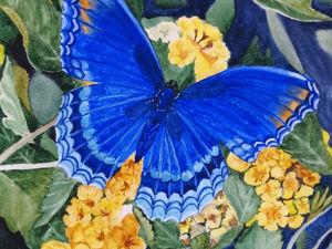Как бабочки залетели на мои картины. Ярмарка Мастеров - ручная работа, handmade.