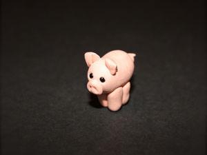 Лепим свинку из полимерной глины за 15 минут. Ярмарка Мастеров - ручная работа, handmade.