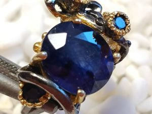 Авторское кольцо с сапфиром. Ярмарка Мастеров - ручная работа, handmade.