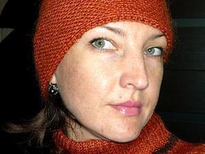 Вяжем шапочку спицами (диагональное вязание). Ярмарка Мастеров - ручная работа, handmade.