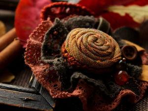 Создаем текстильную брошь «Симфония осенних листьев». Ярмарка Мастеров - ручная работа, handmade.