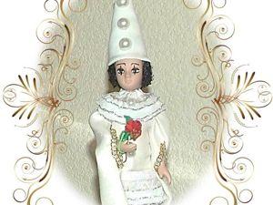 Пьеро — кукла в сказочном костюме. Ярмарка Мастеров - ручная работа, handmade.